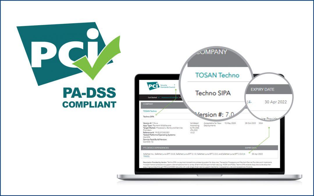 توسنتکنو موفق به دریافت گواهینامه PCI PA-DSS برای سوییچ تکنوسیپا شد