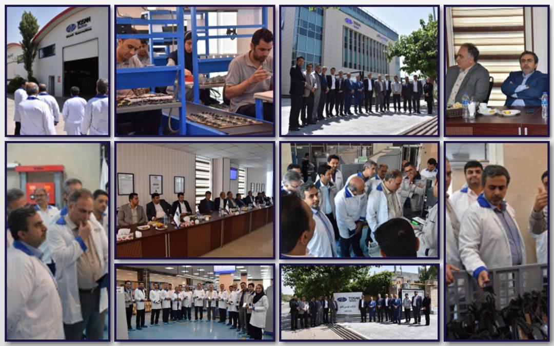 بازدید مدیران ارشد گروه فنآوا از سایت تولید شرکت توسنتکنو