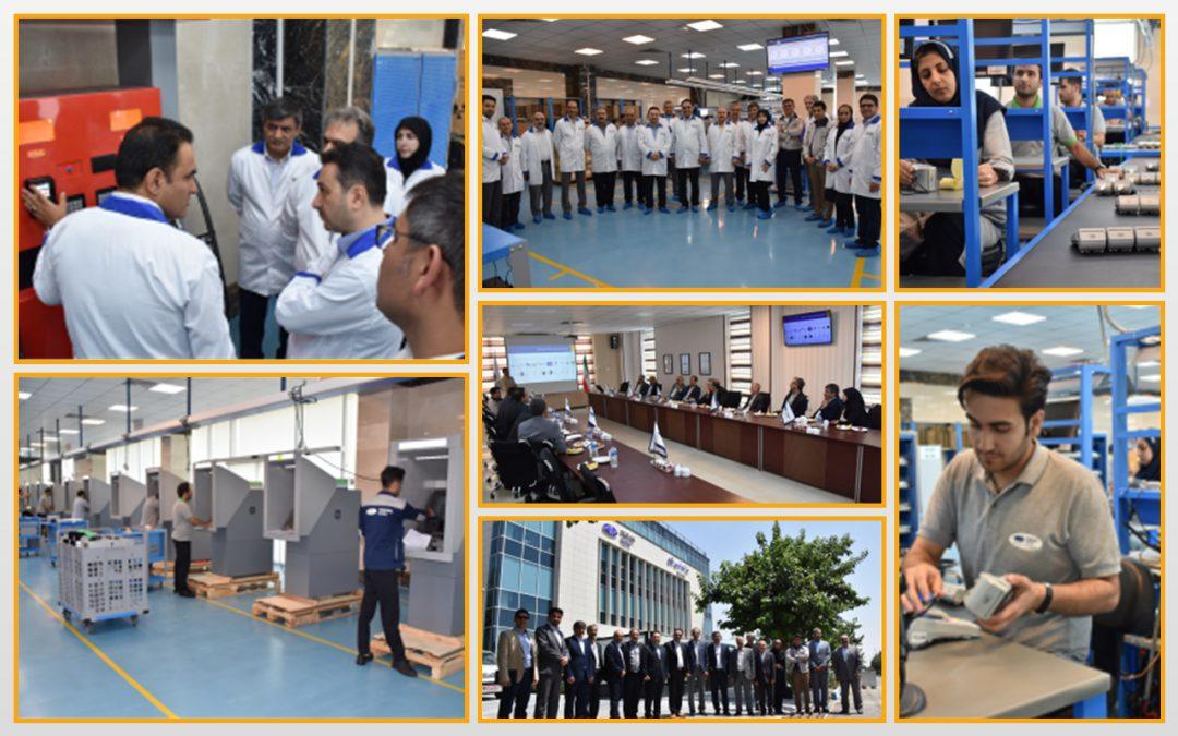 بازدید مدیران ارشد بانک ملی ایران از سایت تولید شرکت توسنتکنو