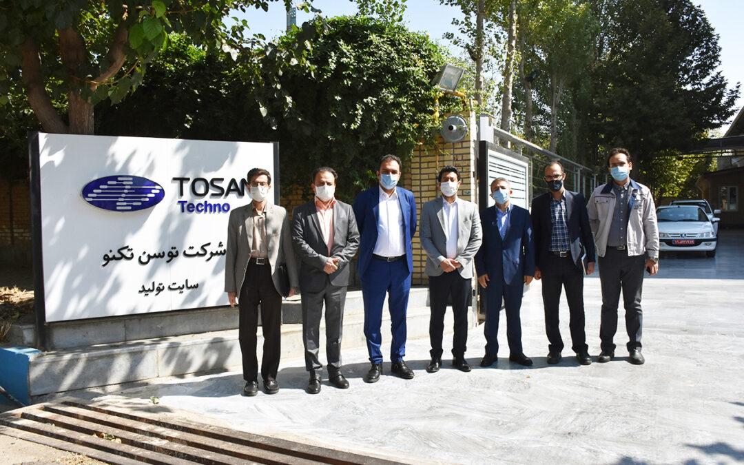 بازدید رییس سازمان صنعت معدن و تجارت استان قزوین از سایت تولید شرکت توسنتکنو